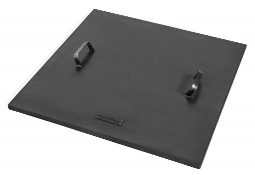Square Lid for Fire Bowl with Rim